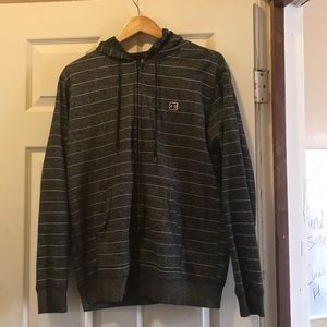 DC brand zip up hoodie.
